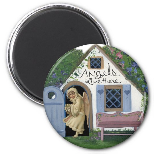 Angels Live Here Magnet