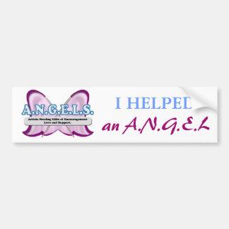 ANGELS logo donated by Amy Sagan Car Bumper Sticker