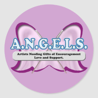 ANGELS logo donated by Amy Sagan Classic Round Sticker