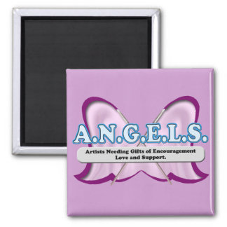 ANGELS logo donated by Amy Sagan Fridge Magnet