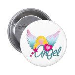 Angels Love 2 Inch Round Button