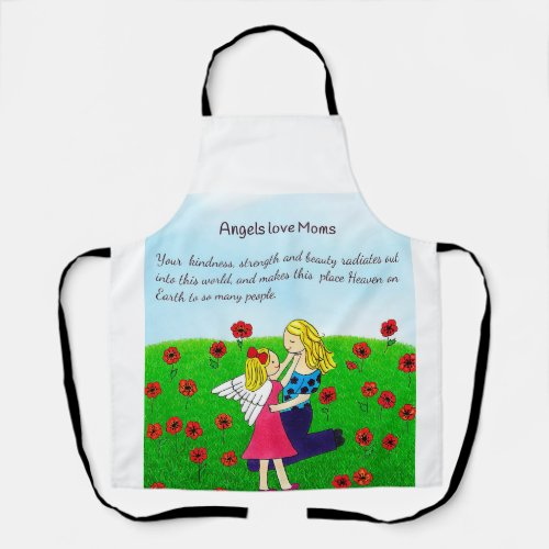 Angels Love Mom All-Over Print Apron