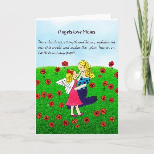 Angels Love Mom Greeting Card