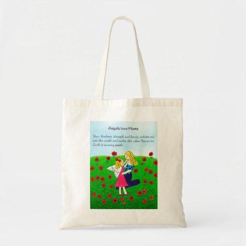 Angels Love Mom Tote Bag