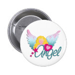 Angels Love Pinback Buttons