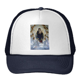 Angels madona baby christian religion clouds mesh hats