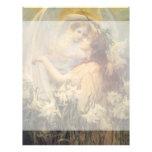 Angel's Message, Swinstead, Vintage Victorian Art Letterhead