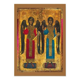 Angels Michael And Gabriel 5x7 Paper Invitation Card