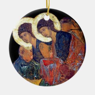 Angels of Annunciation Ceramic Ornament