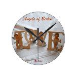 Angels of Berlin  — Wings of Desire Round Wallclocks