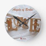 Angels of Berlin  — Wings of Desire Round Wall Clocks