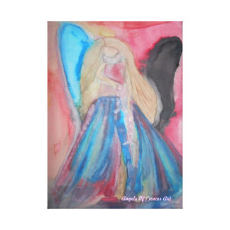 Angels Of Cancer Art By Christina watercolor print Gallery Wrapped Canvas