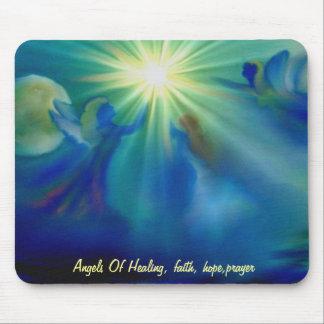ANGELS OF HEALING .FAITH, HOPE, PRAYER MOUSEPAD