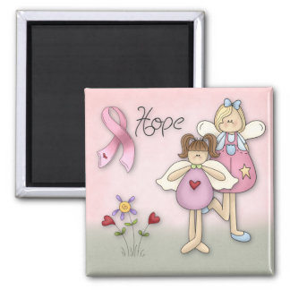 Angels of Hope Breast Cancer Awareness 2 Inch Square Magnet
