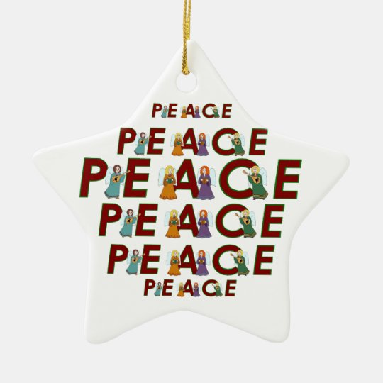 Angels of Peace Ceramic Ornament