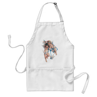 ANGELS OF PEACE ON EARTH GOOD WILL TOWARD MEN APRONS