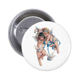 ANGELS OF PEACE ON EARTH GOOD WILL TOWARD MEN PINBACK BUTTON