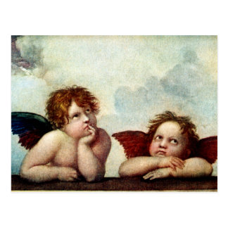 Angels of the Sistene Madonna Post Card