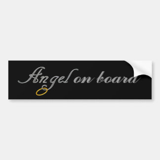 Angels On Board Bumper Sticker