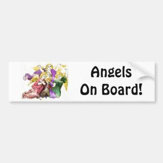 Angels On Board Car Bumper Sticker