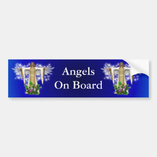 Angels On Board Inspirational Bumper Sticker