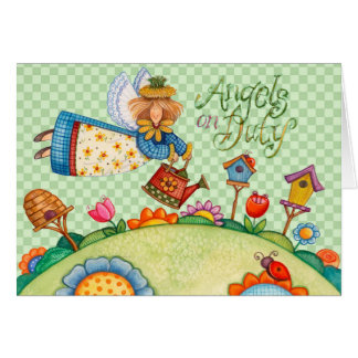 Angels on Duty - Greeting Card