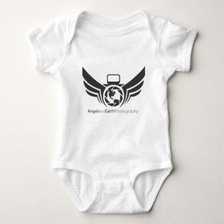 Angels on Earth photography logo Black.pdf Baby Bodysuit