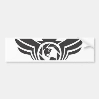 Angels on Earth photography logo Black.pdf Bumper Sticker