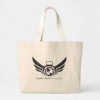 Angels on Earth photography logo Black.pdf Large Tote Bag