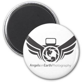 Angels on Earth photography logo Black.pdf Magnet