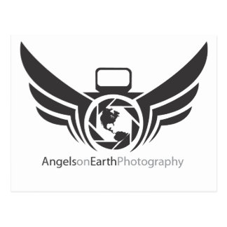 Angels on Earth photography logo Black.pdf Postcard