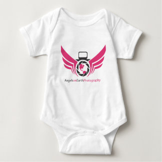 Angels on Earth photography logo Pink.pdf Baby Bodysuit
