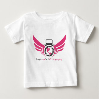 Angels on Earth photography logo Pink.pdf Baby T-Shirt