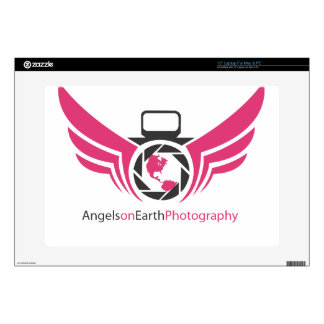 Angels on Earth photography logo Pink.pdf Laptop Decals