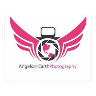 Angels on Earth photography logo Pink.pdf Postcard