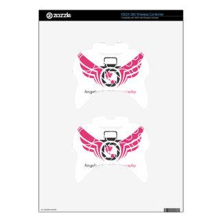 Angels on Earth photography logo Pink.pdf Xbox 360 Controller Decal