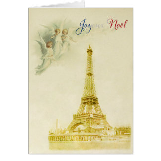 Angels over Paris Christmas card