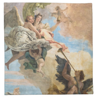 Angels painted in classic style cloth napkin