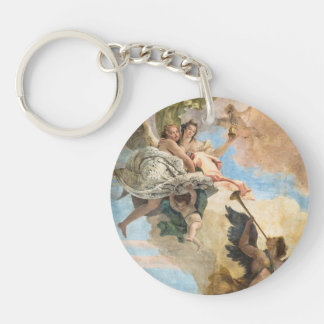 Angels painted in classic style keychain