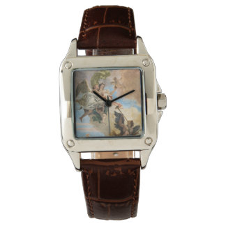 Angels painted in classic style wrist watch