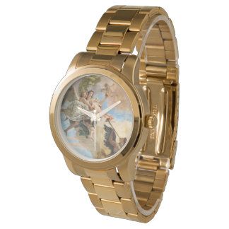 Angels painted in classic style wristwatch