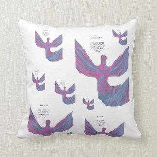 Angels pastel bible verse spiritual pillow