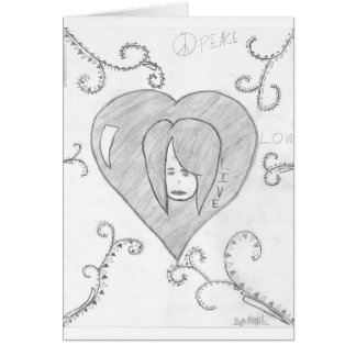 Angels Peace Love Live Drawing Card