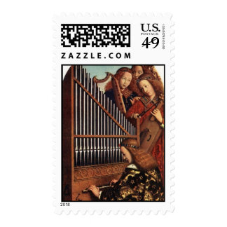 ANGELS PLAYING MUSIC POSTAGE STAMP