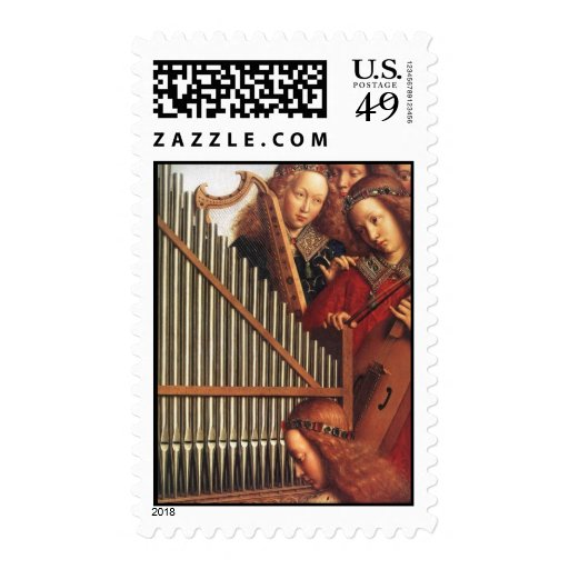 ANGELS PLAYING MUSIC STAMP