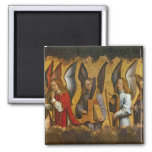 Angels Playing Musical Instruments 2 Inch Square Magnet