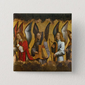 Angels Playing Musical Instruments Button