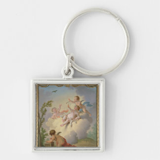 Angels Playing with a Bird in a Landscape Keychain