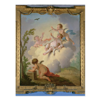 Angels Playing with a Bird in a Landscape Postcard