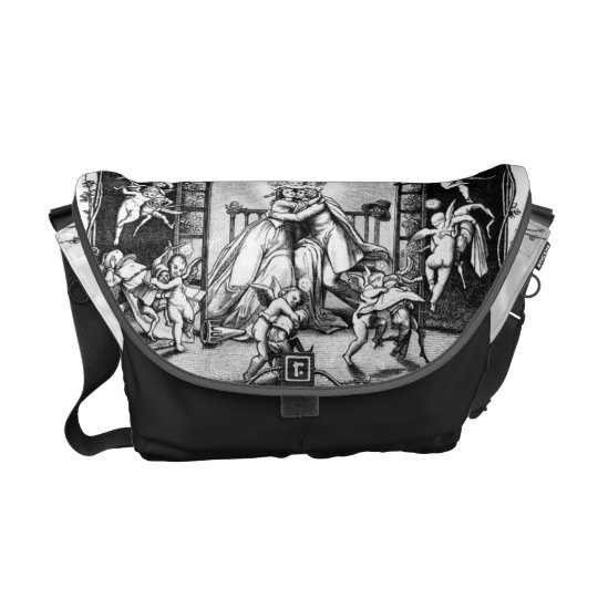 Angels Playng Around Valentine Couple Messenger Bag